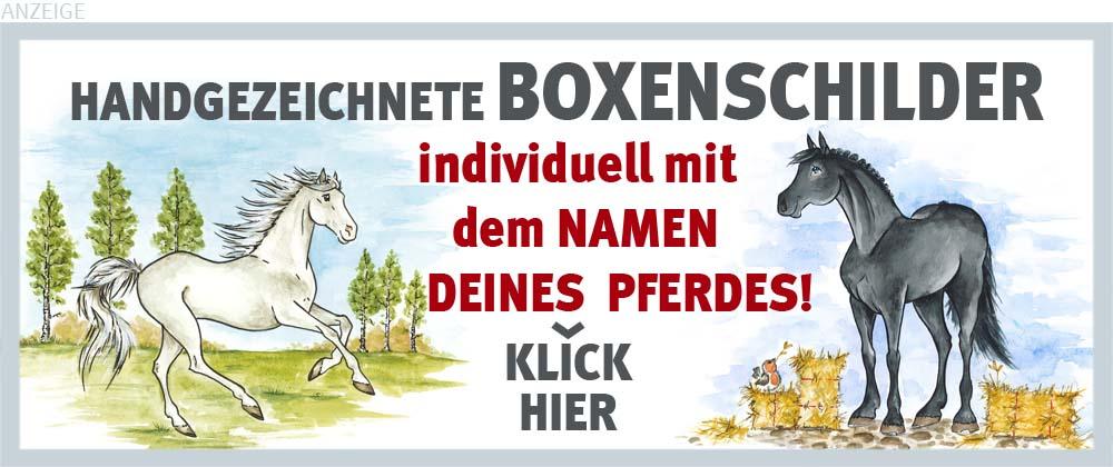 Boxenschilder und Stalltafeln für Vollblut und Oldenburger