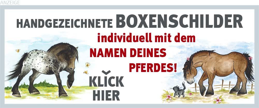 Boxenschilder und Stalltafeln für Noriker, Kaltblut und Schwarzwälder Fuchs