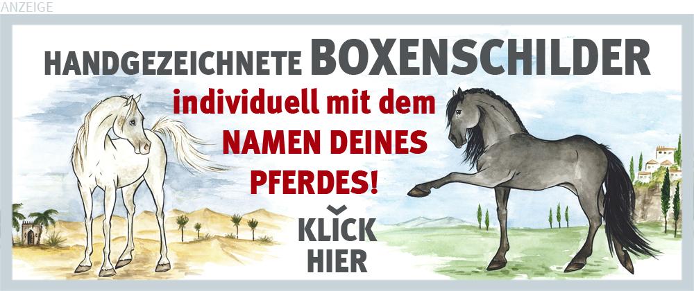Boxenschilder und Stalltafeln für Andalusier, PRE und Araber