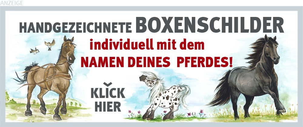 Boxenschilder und Stalltafeln für Kutsch- und Fahrpferde, Ponys und Fellponys