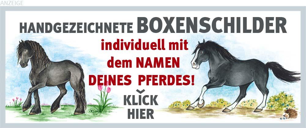 Boxenschilder und Stalltafeln für Friesen und Frederiksborger