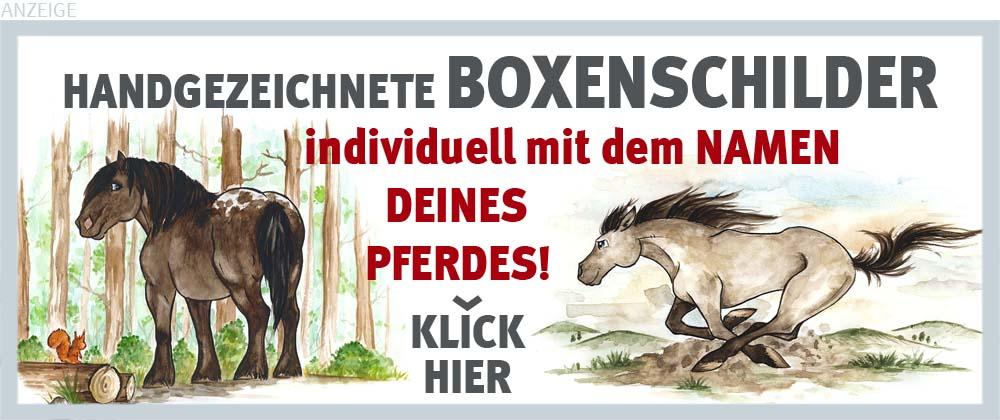 Boxenschilder und Stalltafeln für Kaltblüter, Noriker und Mustangs