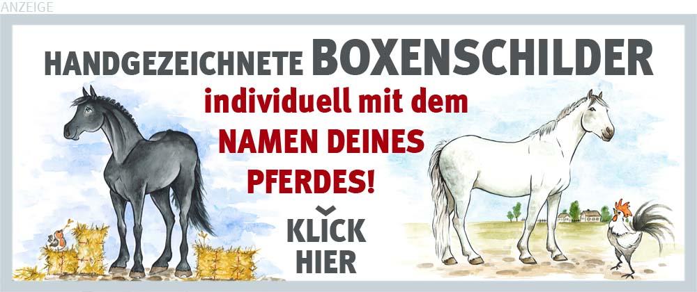 Boxenschilder und Stalltafeln für Oldenburger und Warmblüter