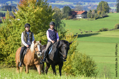 Reiterinnen während eines Geländerittes
