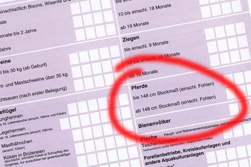 Meldebogen Tiersuchenkasse - Meldefrist 15.01.