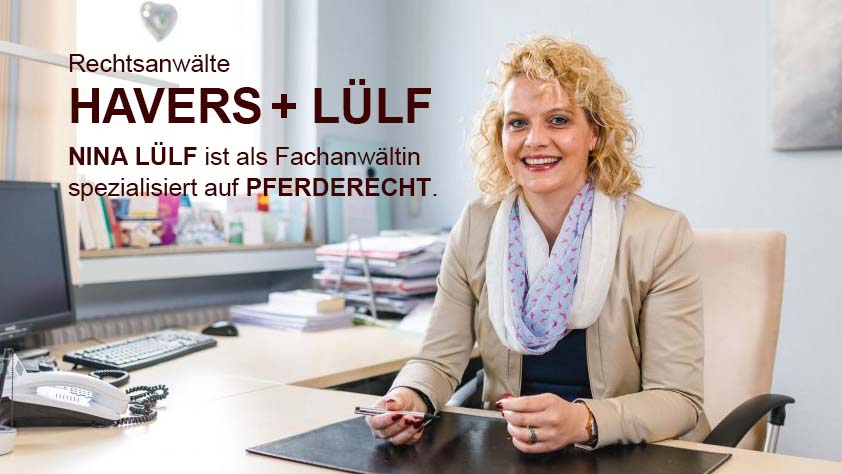Nina Lülf ist Fachanwalt für Pferderecht
