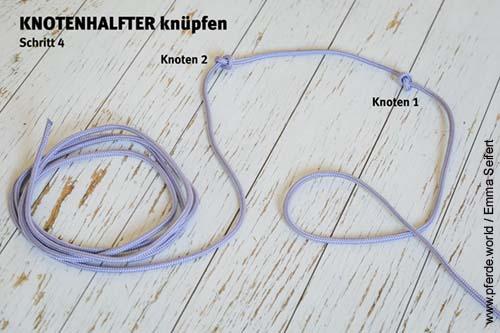 Knotenhalfter selbst knüpfen - Anleitung Schritt 4