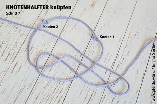 Knotenhalfter selbst knüpfen - Anleitung Schritt 7