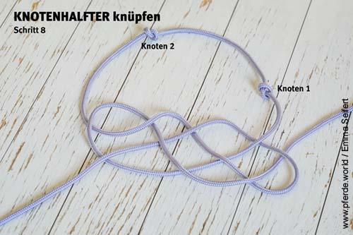 Knotenhalfter selbst knüpfen - Anleitung Schritt 8