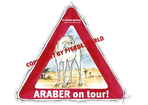 Aufkleber für Auto und Pferdeanhänger für Araber