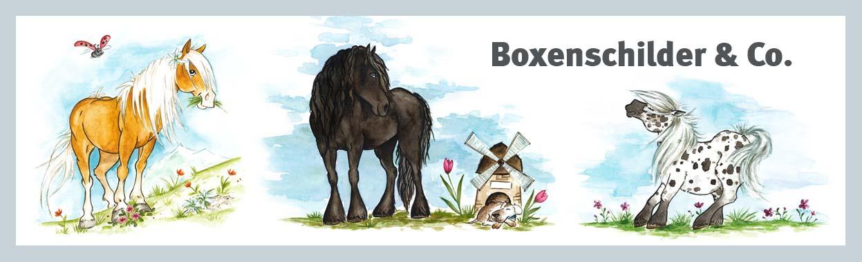 Boxenschilder und Stalltafeln für dein Pferd - viele Rassen und Farben
