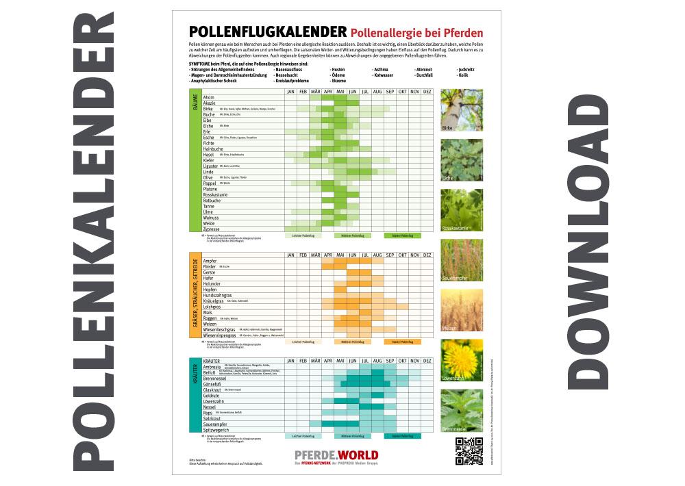 Pollenflugkalender 2020 kostenlos downloaden