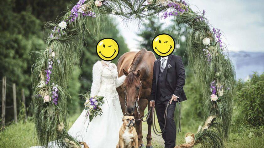 Dekoring aus Alu für die Hochzeits- und Pferdefotografie